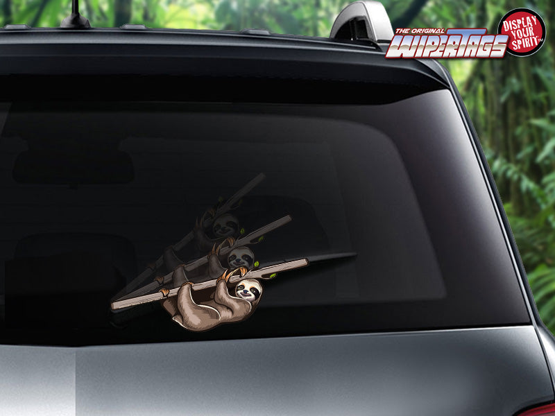 Rear Windshield Wiper >> Hanging Sloth Wipertags