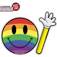 Have a Nice Day Rainbow Smiley WiperTags