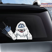 Abominable Snow Beast Waving WiperTag with Decal