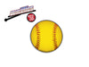 Softball Laminated Window Decal