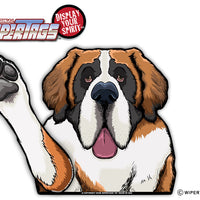 Sully the St Bernard Waving Dog WiperTags