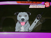 Harley the Staffy Dog Waving WiperTags