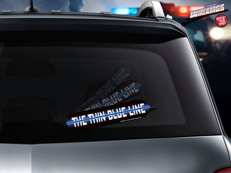 The Thin Blue Line *Reflective* WiperTags