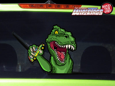 T-REX Waving Dinosaur WiperTags