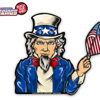 Uncle Sam Waving USA Flag WiperTags