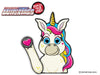 Beauty the Unicorn Waving WiperTags
