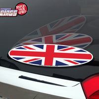 Union Jack UK British Oval Flag WiperTag