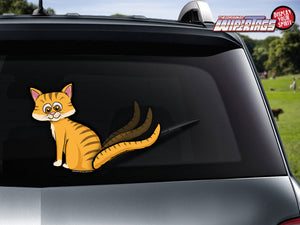 Cat Wagging Tail-Orange WiperTags