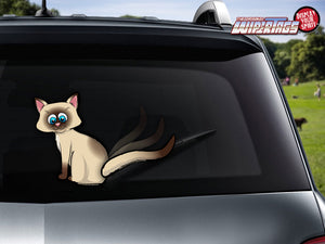 Cat Wagging Tail-Siamese WiperTags