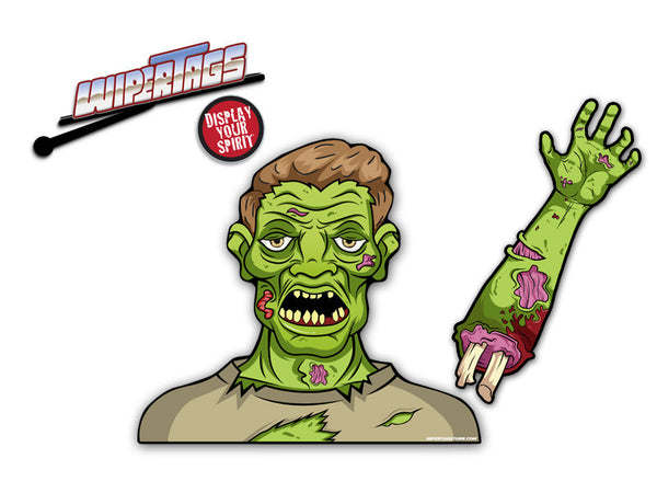 Dead Dave the Wave Zombie WiperTag with Decal