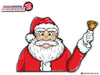 Bell Waving Santa Claus WiperTag
