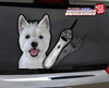 Maggie the Westie Waving Dog WiperTags