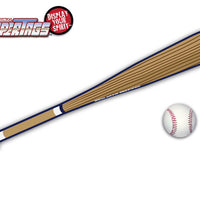 White & Navy Baseball Bat WiperTags with Ball Decal