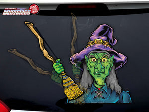 Creepy Witch with Broom WiperTags