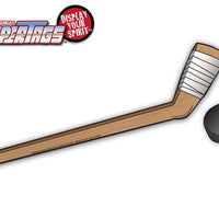 Classic Wooden Ice Hockey Stick WiperTag