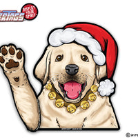 Chloe Lab Puppy with Santa Hat WiperTags