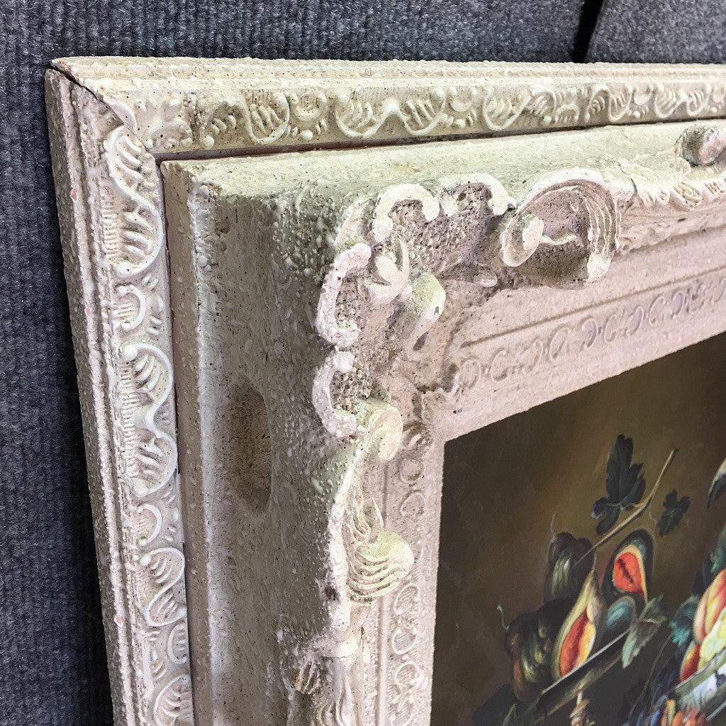 Still Life Fruit Painting w/ Victorian Frame (#6530) - The Things And Stuff - 3