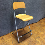 Modern Metal & Wood Stool Chair (#6620) - The Things And Stuff - 1