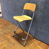 Modern Metal & Wood Stool Chair (#6620) - The Things And Stuff - 3