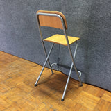 Modern Metal & Wood Stool Chair (#6620) - The Things And Stuff - 4