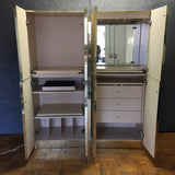 Two-Part Vintage Armoire w/ Drawers (#6586) - The Things And Stuff - 2