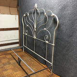 White Iron Ornate Cal-King Bed Frame (#7021)