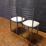 Metal with Faux Leather Chairs (#6838)