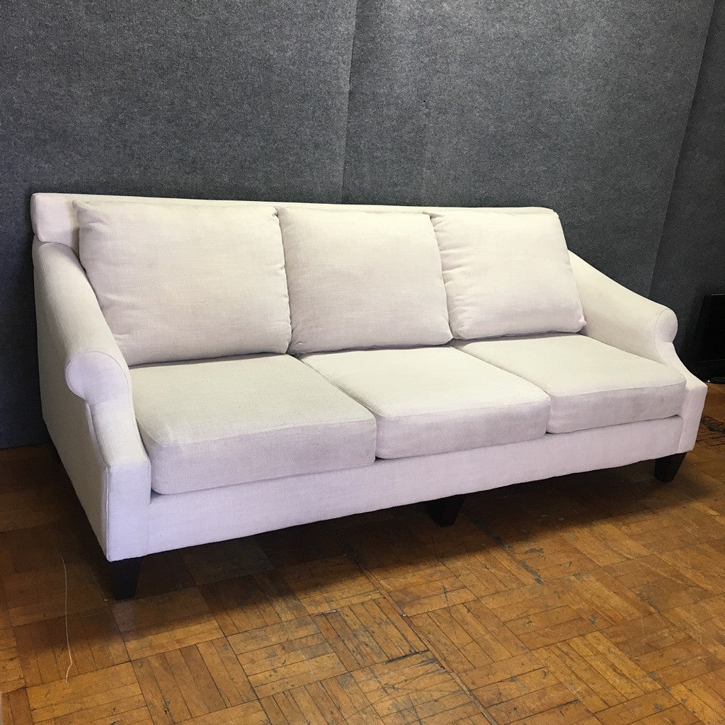 7-Foot White Sofa by Raymour & Flanigan (#6826)