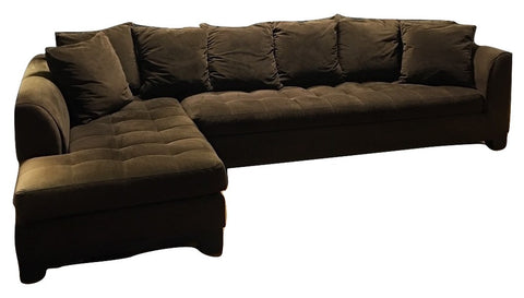 Two-Piece Chocolate Sectional (#6941)