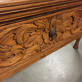 Solid Wood Hand Carved Console Table (#6988)