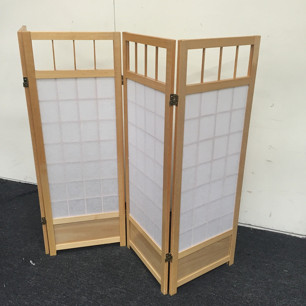 Oriental Four-Panel Screen, Room Divider (#5150) - The Things And Stuff - 2