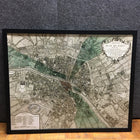 Framed 'Plan De Paris' Map Print (#6160) - The Things And Stuff - 3