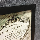 Framed 'Plan De Paris' Map Print (#6160) - The Things And Stuff - 4