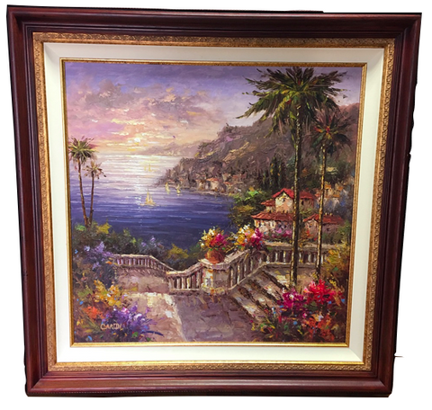 Italian Villa Oil Painting (#6089) - The Things And Stuff - 9