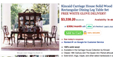 Traditional 9-Piece Queen Anne Dining Table Set w/ Leafs (#6336) - The Things And Stuff - 2
