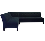 Sleek Black Sectional by The Sofa Company (#6824)