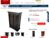 Hand-Carved Armoire w/ Two Drawers (#6984)