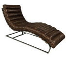 Oviedo Brown Leather Chaise by Restoration Hardware (#6987)