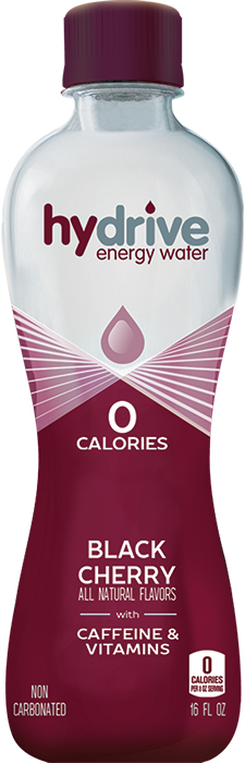 Hydrive Energy Water Black Cherry | 16oz 12 pack