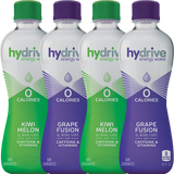 Hydrive Energy Water Sample Pack | Grape Fusion & Kiwi Melon | 16oz 4 pack