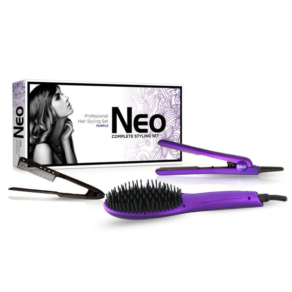 Metallic Purple Heated Brush Set | Bundle