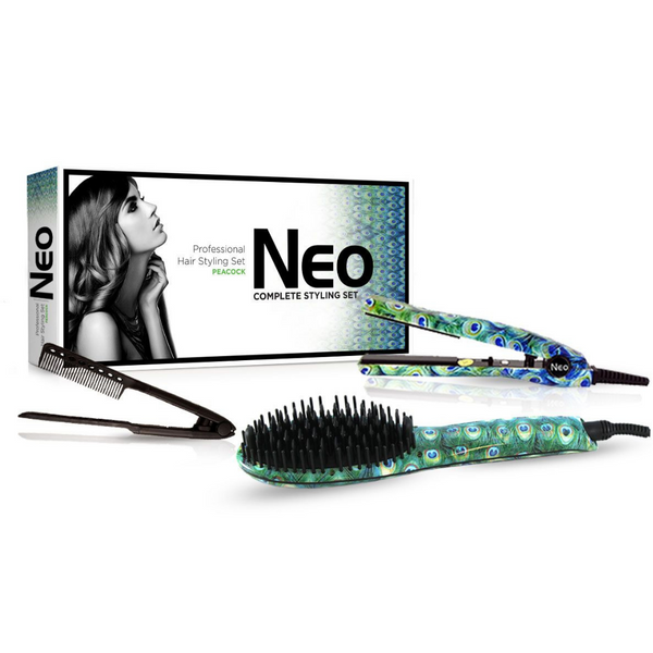 Peacock Heated Brush Set | Bundles
