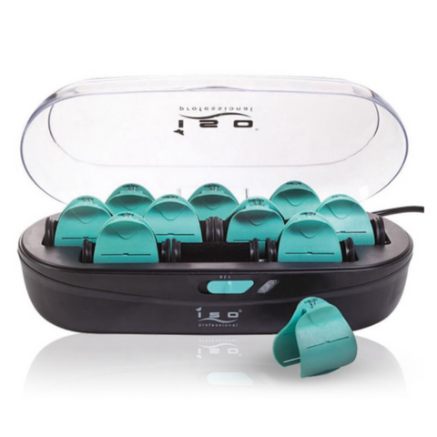 10pc Pearl Ceramic Hot Roller Set | Styler