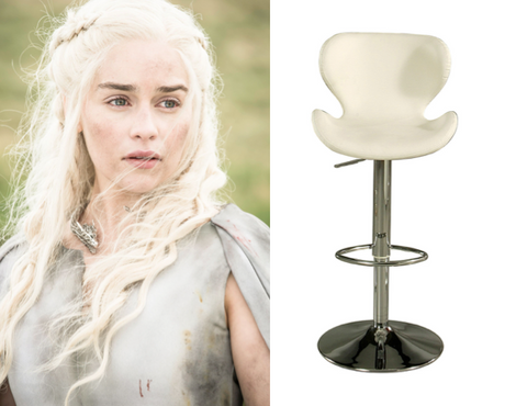 Danaerys Targaryen and the Caligari Bar Stool