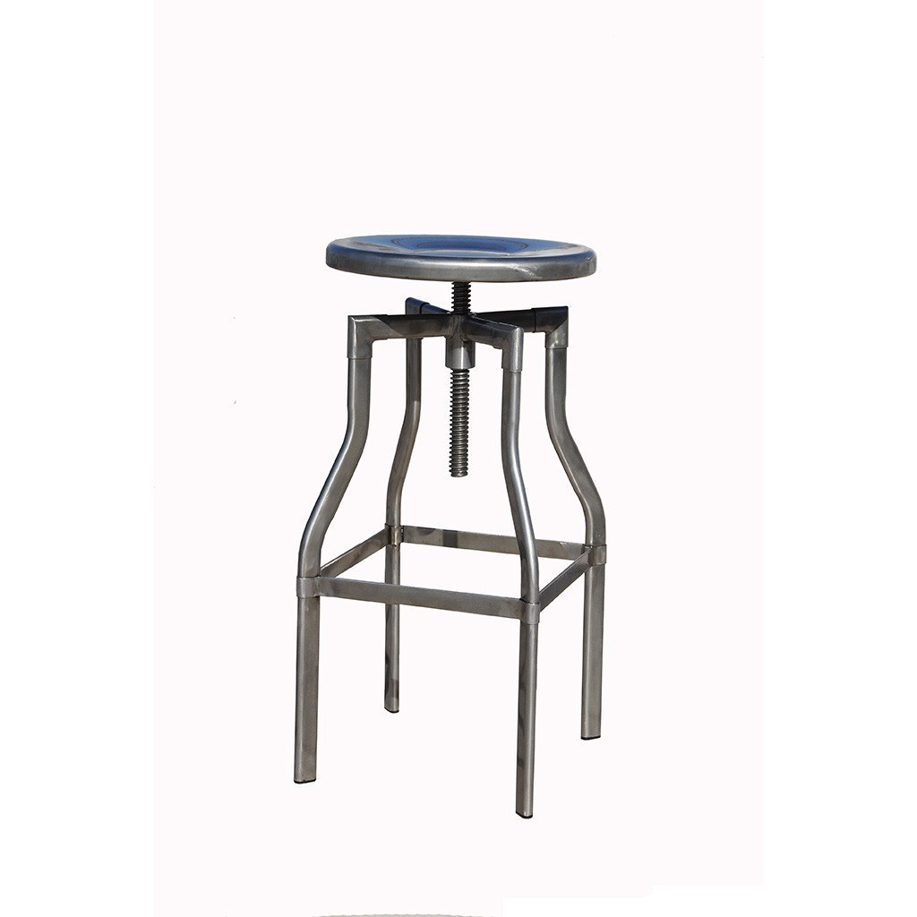 Nspire Burton Adjustable Stool Distressed Gunmetal Bar