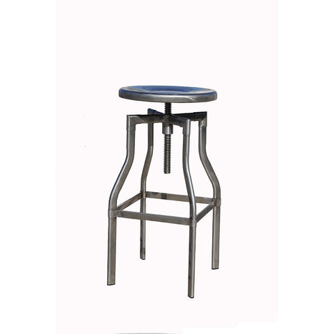 !nspire Burton Adjustable Stool Distressed Gunmetal_Bar Stool - Barstool Boutique