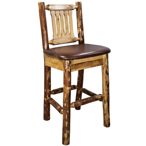 Montana Woodworks Glacier Bar Chair w/ Back & Cushion_Bar Stool - Barstool Boutique