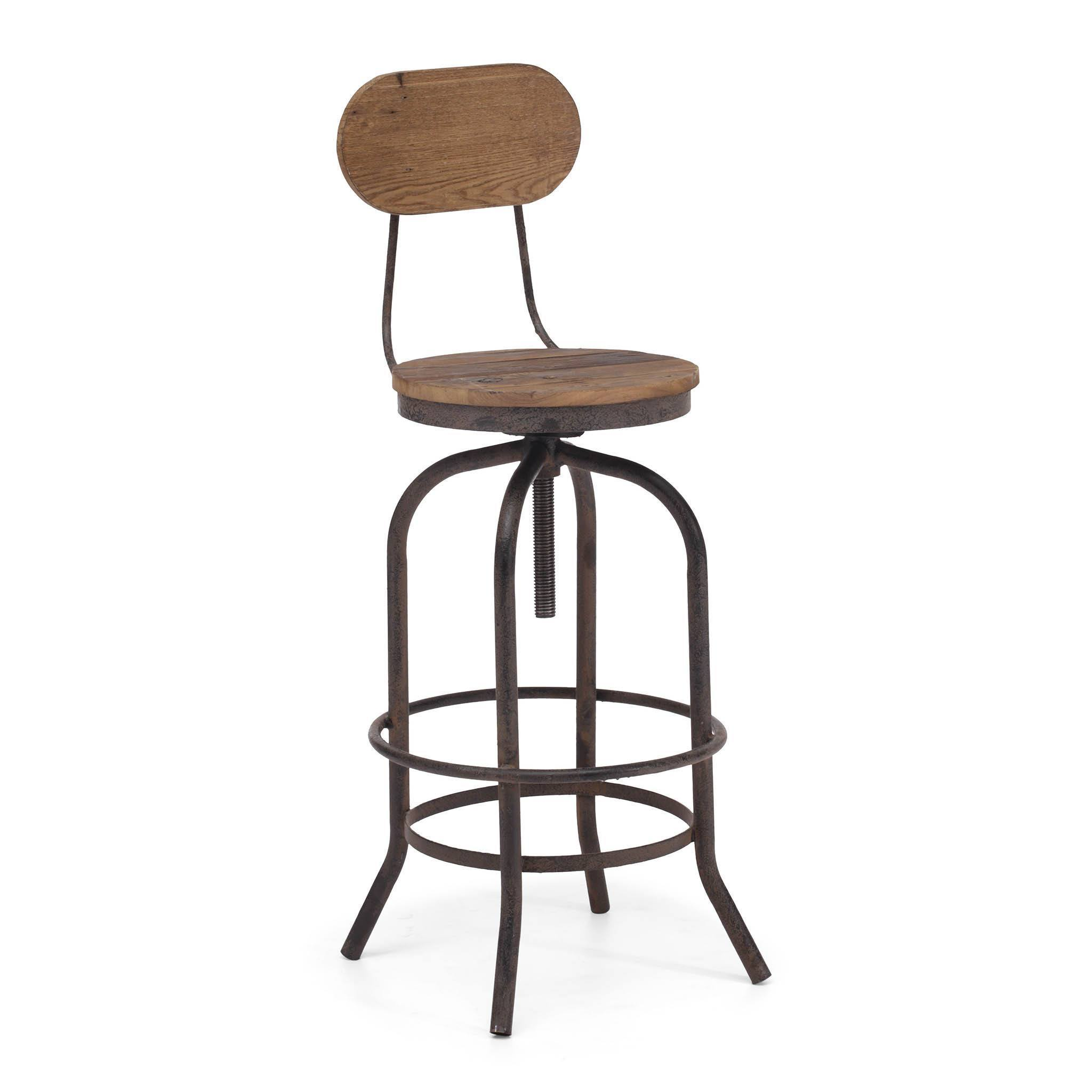 Zuo twin peaks adjustable bar chair bar stool boutique for Stool chair