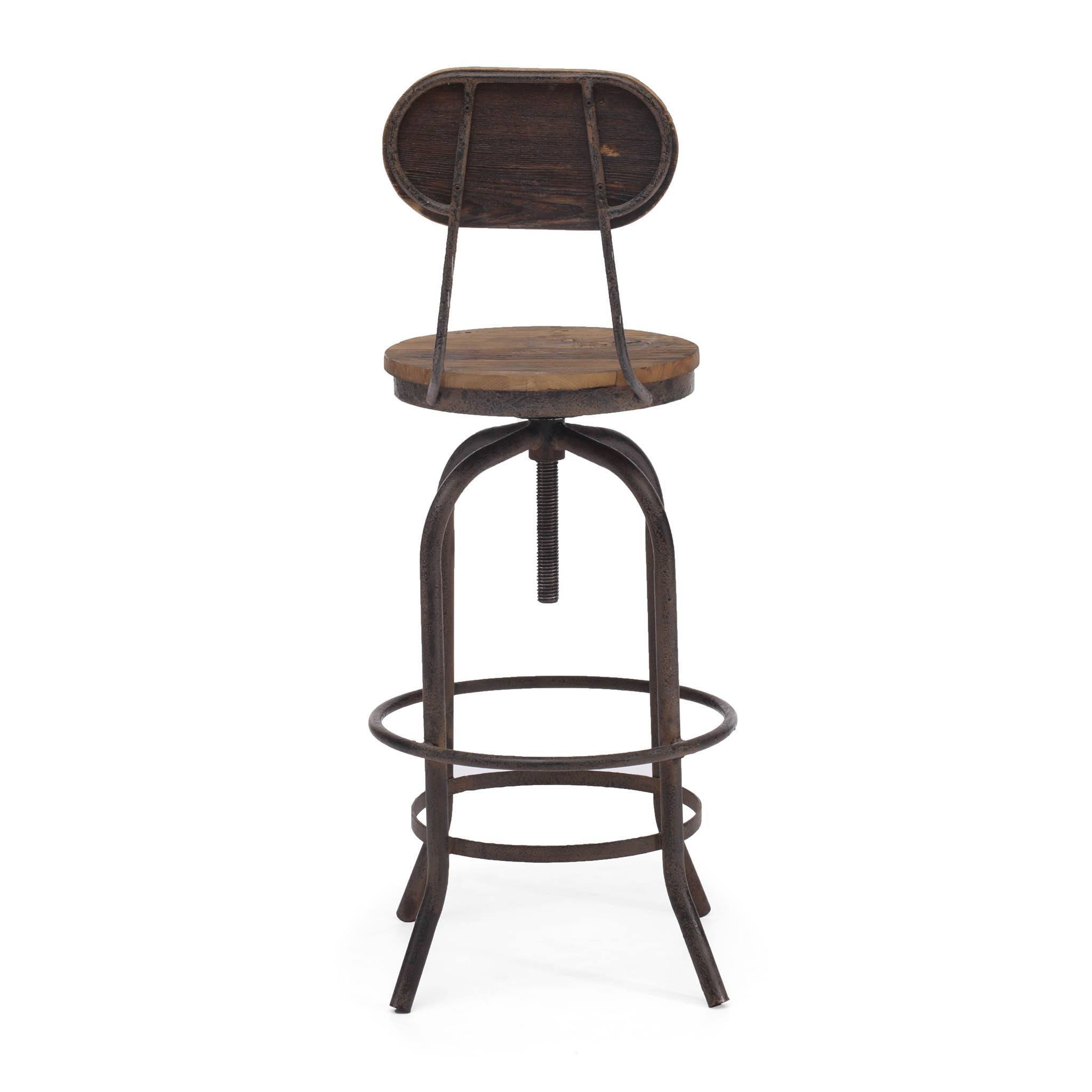 Zuo Twin Peaks Adjustable Bar Chair - Bar Stool Boutique