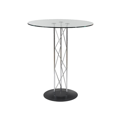 Bar Table - Trave Glass Top Bar Table